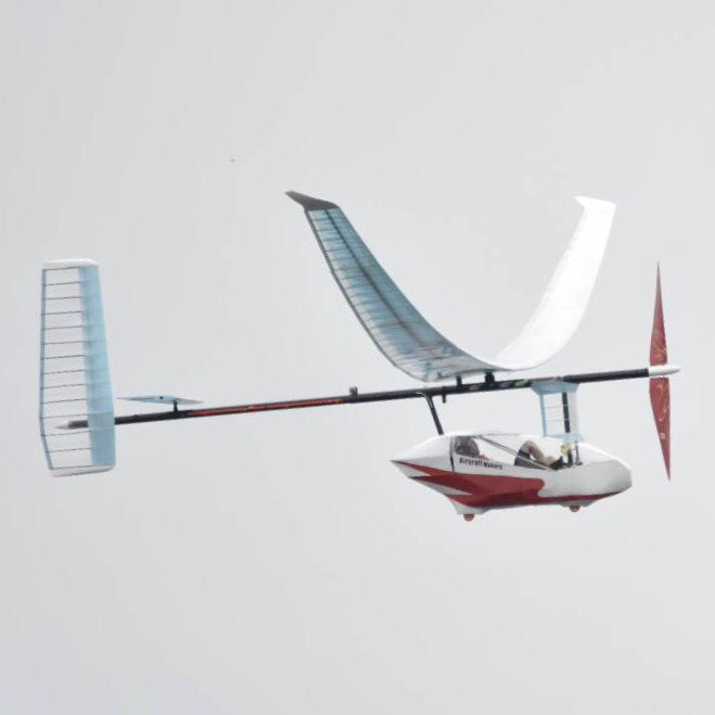 人力飛行機展示